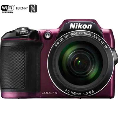 COOLPIX L840 16MP 38x Opt Zoom Digital Camera (Plum) Certified Refurbished