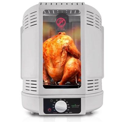 PKRT15 Kitchen Vertical Countertop Rotisserie Rotating Oven, White