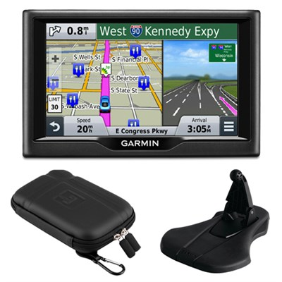 nuvi 58 5` Essential Series 2015 GPS System US & Canada Mount & Case Bundle