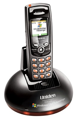 WIN1200 Dual-Mode 5.8 GHz Cordless Internet Phone System W/Windows Live Messenge