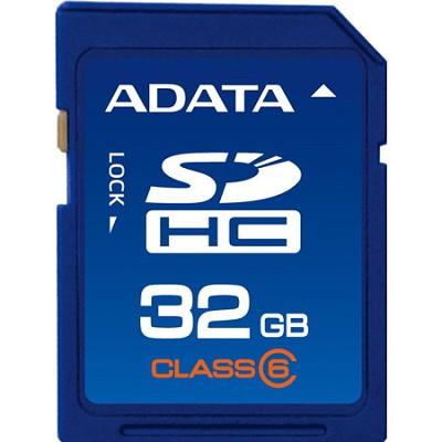 32 GB Secure Digital High-Capacity (SDHC) Class 6 - { ASDH32GCL6-R }
