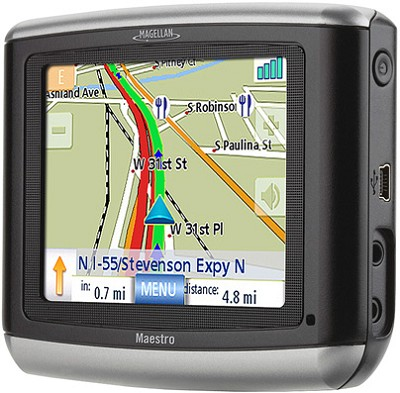 Maestro 3100 Portable Vehicle Navigation System w/ 3.5` Bright LCD