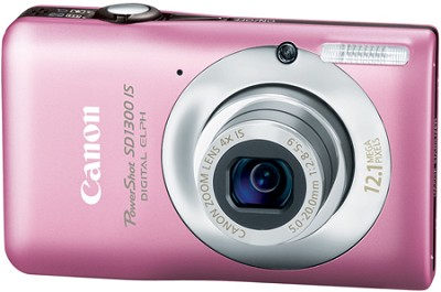 Powershot SD1300 IS 12MP Digital ELPH Camera (Pink)