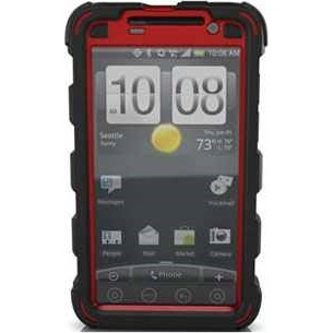 HC Case for HTC EVO (Black/Red)