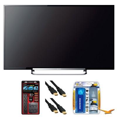 KDL-50R550A 50` 120Hz 3D WiFi 1080p LED HDTV Surge Protector Bundle