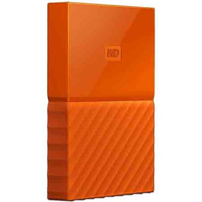 WD 4TB My Passport Portable Hard Drive - Orange