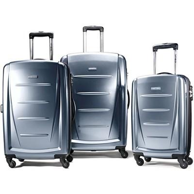 Winfield 2 3 Piece Roller Luggage Set (Blue Slate)