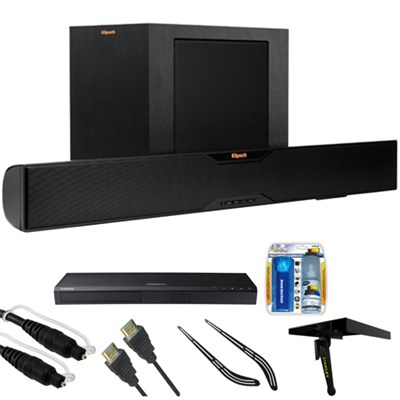 Bluetooth Soundbar With Wireless Subwoofer R-10B w/ HD Blu-ray Player Bundle