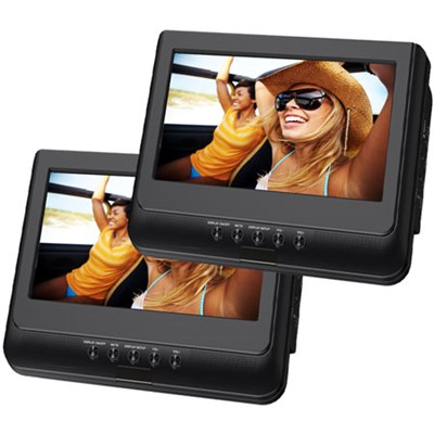 SDVD1037 10.1` Dual Screen Portable DVD Player
