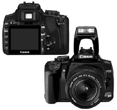 EOS Digital Rebel XTi (Black) with EF-S 18-55mm II Kit