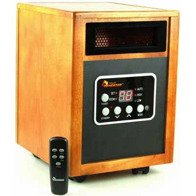 1500W Electric Infrared Quartz + PTC Infrared Heater with Remote - OPEN BOX
