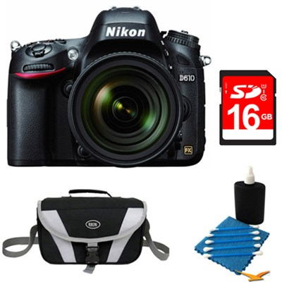 D610 FX-format 24.3 MP 1080p video Digital SLR Camera with 24-85mm Lens Kit