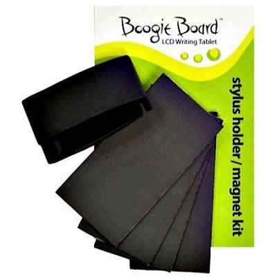 Stylus Clip/Magnet Kit for Boogie Board 8.5 Inch LCD Writing Tablet - Black