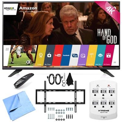 55UF7600 - 55-inch 2160p 120Hz 4K UHD Smart LED TV w/ WebOS Mount/Hook-Up Bundle