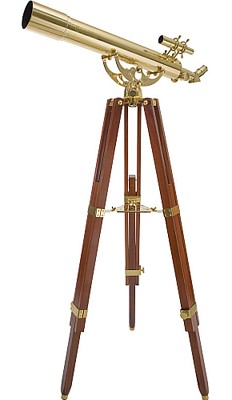 21034 Ambassador 80mm Refractor Telescope (Brass)