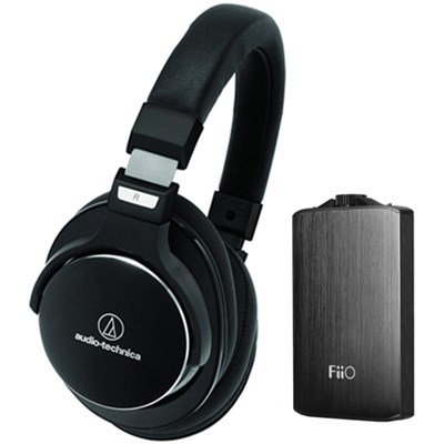 SR7 SonicPro High-Resolution Noise Cancellation Headphones w/ FiiO A3 Amplifier