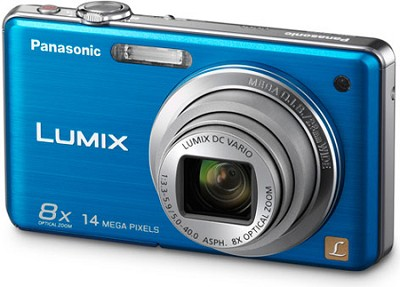 DMC-FH20A LUMIX 14.1 Megapixel Digital Camera (Blue) - REFURBISHED
