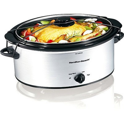 33156 5-Quart Portable Slow Cooker, Silver