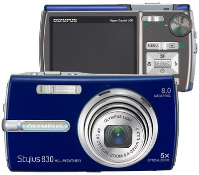Stylus 830 Digital Camera (Blue)