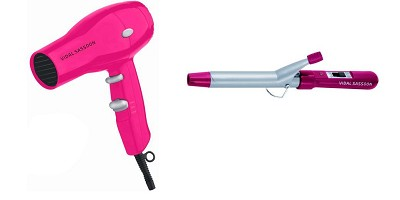 Turbo Hair Blower and Curler set for Girls! Pink