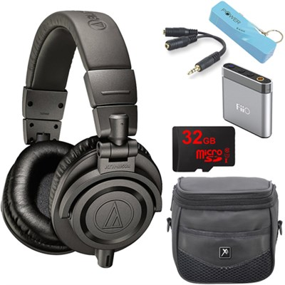 ATH-M50xMG Limited Edition Professional Studio Monitor Headphones A1 Amp Bundle