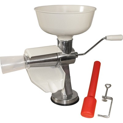 Roma Sauce Maker & Food Strainer Extra-Large Capacity Hopper Easy Turn Handle