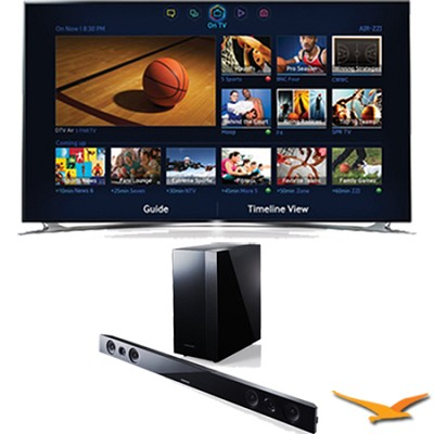 UN65F8000 - 65` 1080p 240hz 3D Smart LED HDTV with HW-F450 Sound Bar Bundle