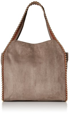 Grayson Shoulder Bag - Suede Cement