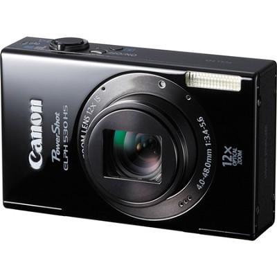 PowerShot ELPH 530 HS WI-FI Black Camera w/  12x Zoom & 3.2 inch Touch LCD