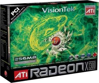 RADEON X1300 256MB PCI 2PORT VGA DVI-I TV-OUT/HDTV OPT 250W