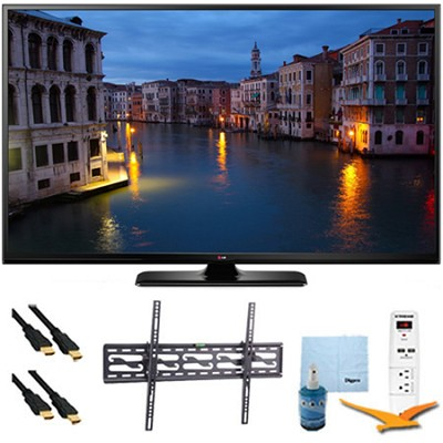 60PB6650 - 60` HD 1080p 600Hz Smart Plasma TV Tilt Mount & Hook-Up Bundle