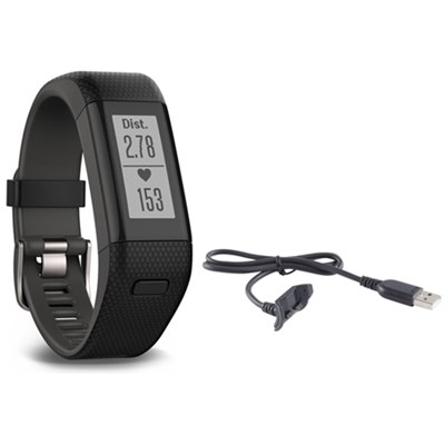 Vivosmart HR+ Activity Tracker Bundle, X-Large Fit with Charging Cable (Black)