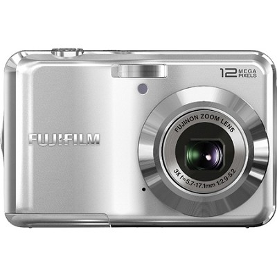 FinePix AV100 12 MP 3x Zoom Digital Camera (Silver)