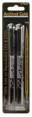 CD/DVD Safe Pen - Solvent free. Non-toxic. Alcohol Free. (2 Pack)