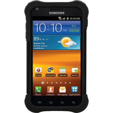 Samsung Galaxy S II Ballistic Shell Gel (SG) Series Case - Black/Black
