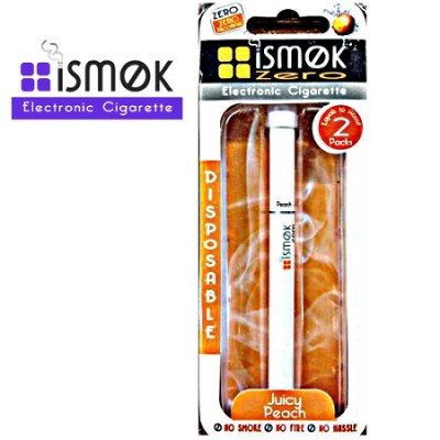 3 Pack of iSmok Disposable Electronic Cigarettes - Juicy Peach Zero
