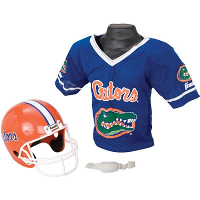 Youth NCAA Florida Gators Helmet and Jersey Set