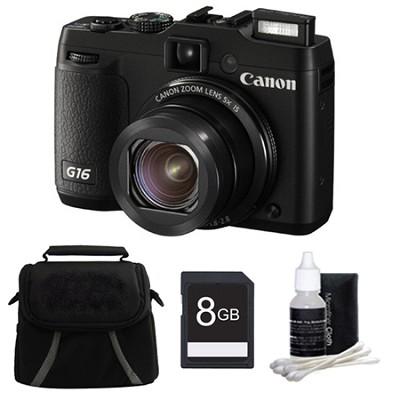 PowerShot G16 12.1 MP Digital Camera 8GB Kit