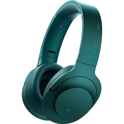 MDR100 h.Ear on Wireless NC On-Ear Bluetooth Headset Viridian Blue - OPEN BOX