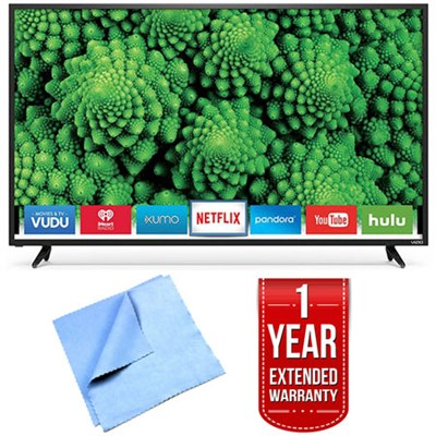 D48f-E0 D-Series 48` Full Array LED Smart TV 1 Year Extended Warranty Bundle