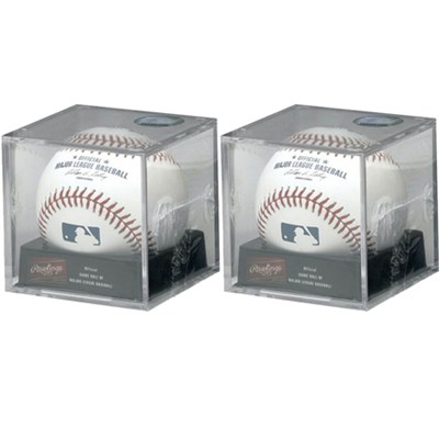 Official Major League Baseball w/ Cube Display Box Included 2-Pack Bundle