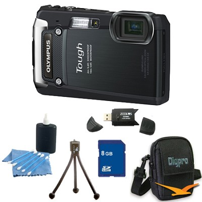 8GB Kit Tough TG-820 iHS 12MP Water/Shock/Freezeproof Digital Camera - Black