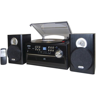 JTA-475 3 Speed Stereo Turntable w CD System, Cassette & AM/FM Stereo Radio