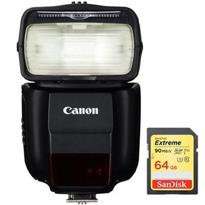 430EX III-RT EOS Speedlite Flash with Wireless Capability w/ 64GB Memory Card