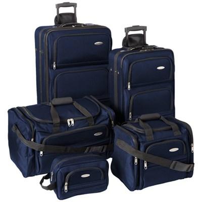 5 Piece Nested Luggage Set (Navy) - OPEN BOX