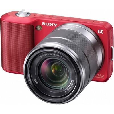 Alpha NEX-3 Interchangeable Lens Red Digital Camera w/18-55mm Lens