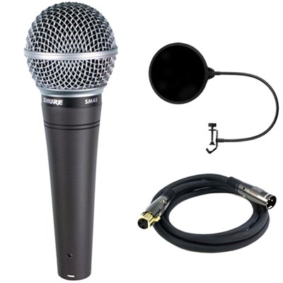 Cardioid Vocal Dynamic Microphone (SM48-LC) w/ Filter Bundle