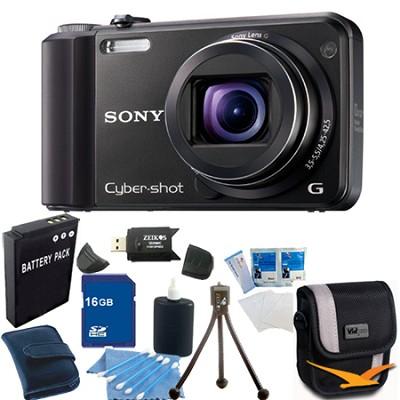 Cyber-shot DSC-H70 Black Digital Camera 16GB Bundle