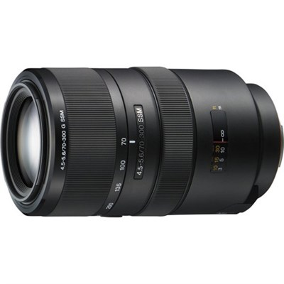 SAL70300G 70-300mm f/4.5-5.6 Compact Super Telephoto Zoom Lens - OPEN BOX