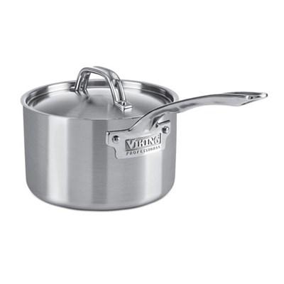 Professional 5-Ply Saucepan, 3-Quart, Silver